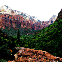 zion nationalpark utah mountains landcsape