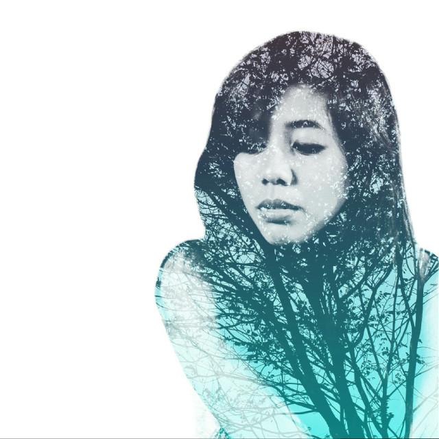 #Blue trees  #doubleexposure  #trees #art #photography
