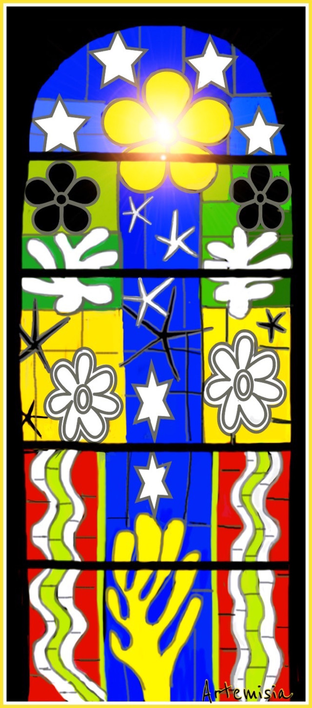 Matisse style.   Vote and repost if you like 😊 #stainedglass #drawing #art #digitalart