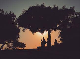 avignon silhouettes travel summer sun
