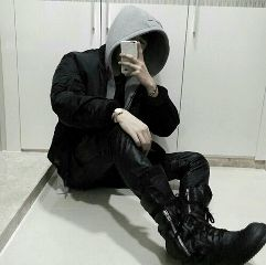 boy black white grey photo