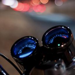 freetoedit dpclights motorcycle bokeh blue dpcnightlights pcstreetphotography pcroadtrip pcgoingout pcafterdark