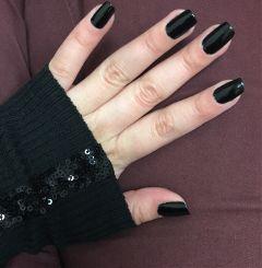 black nailpolish nailsart nailsbyalaa