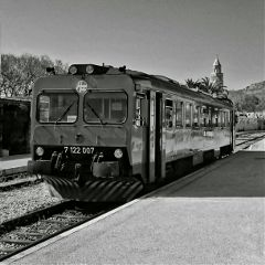 blackandwhite train