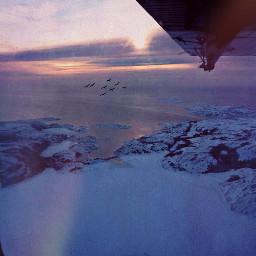 sea winter landscape plane photography