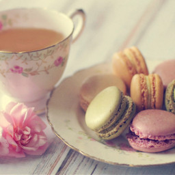tea vintage macarons