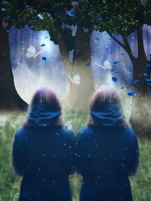fteearthday mirror mirroreffect twins fantasy
