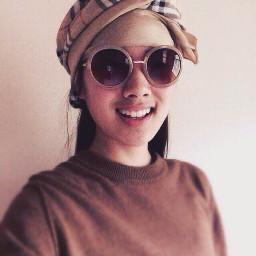 fashion sunglasses nude beige brown freetoedit