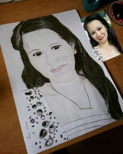 pencilart drawing drawportrait blackandwhite