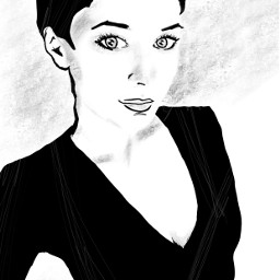 drawing sketch blackandwhite girl model freetoedit