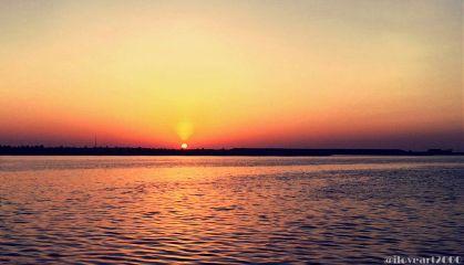 beach beautiful sunset sky water