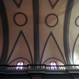 church architecture ceiling window lines
